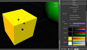 Each material option generates different vertex and fragment programs
